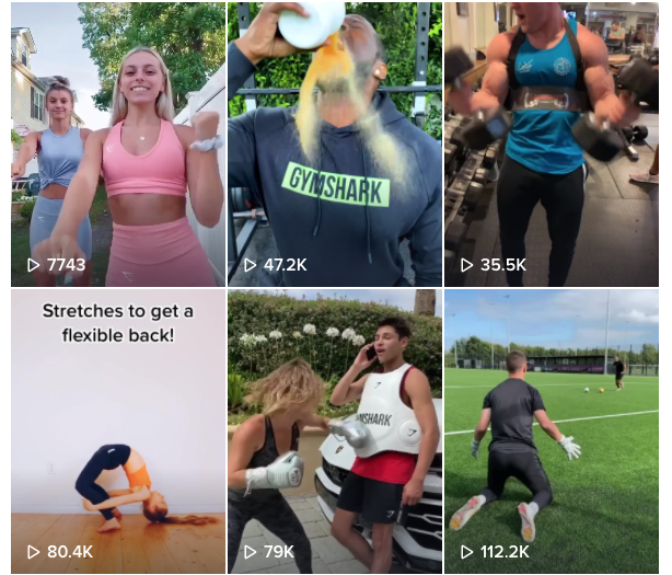 Gymshark on TIkTok